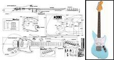 JagStang Electric Guitar Full-Scale Plan