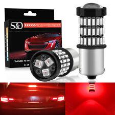 2Pcs Red BAU15S 1156 PY21W LED 57SMD Bulb Rear Turn Signal Brake Stop Tail Light