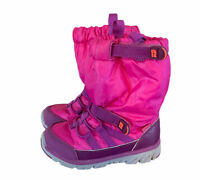 STRIDE RITE Winter Snow Boots Pink Girl's Size 8 Made 2 play M2P Sneaker Boot