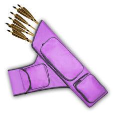 Archery Four Tubes Side/Hip/ Belt Arrow Quiver Faq151 R/H Purple