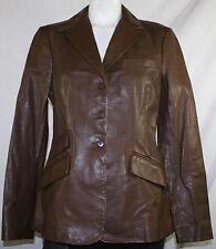 New Ralph Lauren Blue Label Women's Custom Leather Riding Jacket Size 6- $998