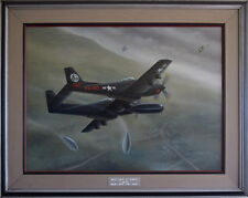 High Noon at Kimpo - Original Oil on Canvas - by Mike Machat - F-82 Twin Mustang