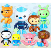 8pcs The Octonauts Action Figures Toys Captain Barnacles Medic Peso Kid's  Gifts