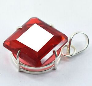 Exclusive Deal 53.70 Ct EGL Certified Red Topaz Pendant .925 Sterling Silver