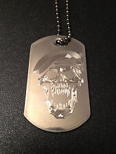 CALL OF DUTY BLACK OPS ZOMBIE GAMER DOG TAG NECKLACE STAINLESS STEEL C.O.D