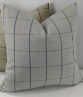 John Lewis & Partners Classic Check Fabric Wool Effect Storm Cushion Cover