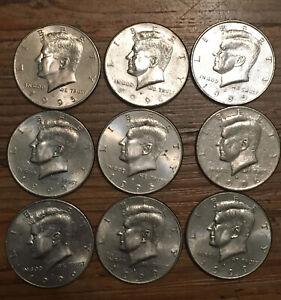 (9) Kennedy half dollar lot