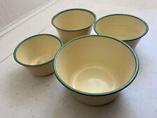 Vintage Rustic Enamel Bowls  Dishes x 4