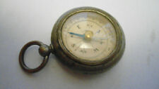 More details for antique old vintage german metal compass in a fob pocket watch style case