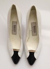 Vintage 80's Bally Black  and White  Gold Pumps Size 6M