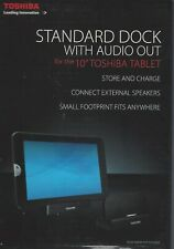 """TOSHIBA Standard Dock  with Audio Out for Tablet 10"""" Store and Charge"""