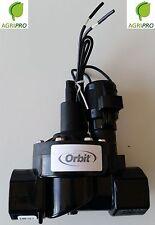 """Elettrovalvola ORBIT 1"""" femmina con controllo di flusso PVC 24V per centralina"""