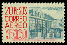 MEXICO 1956 AIRMAIL - Architecture  20pesos red Sc# C217  mint VF lightly hinged