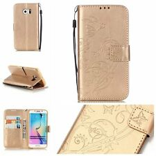 Luxury Leather Magnetic Flip Phones Wallet Case Stand Cover For Samsung Galaxy