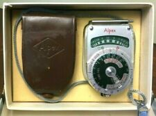 Vintage Alpex Camera Light Exposure Meter w/ Leather Case - Working  *AF