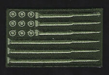 USA FLAG BULLET HAT PATCH US ARMY MARINES NAVY AIR FORCE VET PIN UP GUN RIFLE