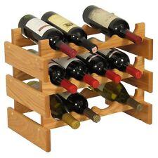 Wooden Mallet WR43 12 Bottle Dakota Wine Rack  Light Oak NEW