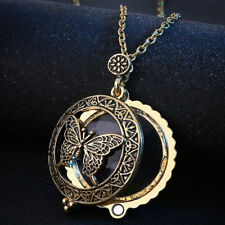 Magnifying Glass Golden Pendant Necklace Magnifier Chain Jewellery Irish Gift sd