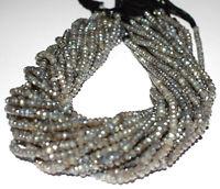 "Labradorite Gemstone 4-4.5 mm Rondelle Faceted Beads 12"" 1-10 Loose Strand"