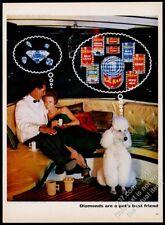 1963 white Standard Poodle photo Kal Kan dog food vintage print ad