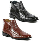 Delli Aldo Men's Dress Ankle Boots Shoes w/ Leather Lining M-6002