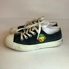 Vintage Keds Looney Tunes Canvas Shoes Sneakers Plaid Tweety Bird Size 6 Blue