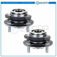 Pair : 2 Front Left Or Right Wheel Hub & Bearing Assembly For Nissan Versa 4 Lug