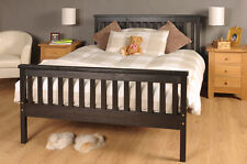 Double Bed Chocolate 4ft6 Double Bed Wooden Frame Chocolate