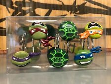 12 pieces - Teenage Mutant Ninja Turtles Tmnt Shower Curtain Hooks