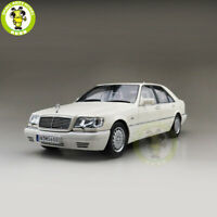 1/18 Mercedes Benz S600 V12 W140 Diecast Car Model Toys Boys Girls Gifts White