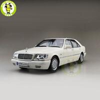 1/18 Benz S600 V12 W140 Diecast Car Model Toys Boys Girls Gifts White