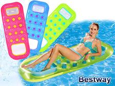 Bestway Solar Luftmatratze Pool Float mit Sichtfenster und offenem Fußteil BLAu
