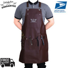 New Professional Brown Leather Hairdressing Barber Apron Cape Barber Hairstylist