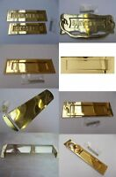 POLISHED BRASS -Front door Internal External letter box postal plate cover