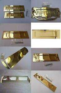 POLISHED BRASS -Front door Internal External letter box postal plate cover