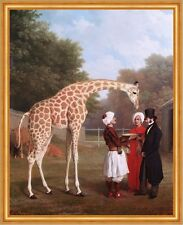 Nubian Giraffe Jacques-Laurent Agasse Tiere Gehege Wärter Adel Turban B A2 02342