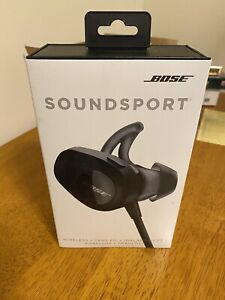 Bose SoundSport Wireless In Ear Bluetooth Headphones Black - BRAND NEW