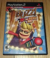 BUZZ THE MEGA QUIZ - PS2 - COMPLETE WITH MANUAL - FREE S/H - (O)