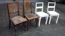 4 alte antike stühle stuhl schnitzerei holz holzstühle shabby landhaus weiß