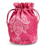 Vera Bradley Lighten Up Mini Ditty Bag Stamped Paisley New
