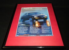 1987 Chevrolet Beretta Framed 11x14 ORIGINAL Advertisement