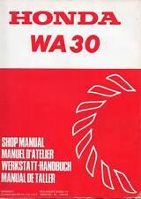 Honda Wa 30 Water Pump Shop Service Manual