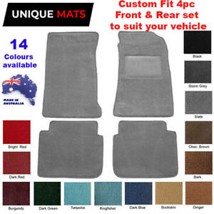 Suits Mazda 929 1982-1987 CUSTOM 4pc Car Floor Mats Plush Pile
