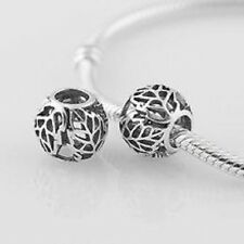 Authentic Pandora Sterling Silver 925 ALE Autumn Bliss 791190 Charm leaves leaf