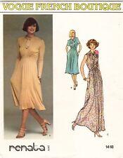 1970's VTG VOGUE Misses' Dress Renata Pattern 1418 Size 14 UNCUT