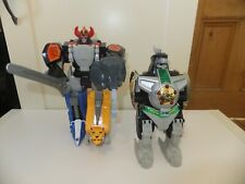 Played with Mighty Morphin Power rangers Vintage Zords & Action Figures