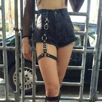 Women Sexy Leather Harness Thigh Straps Leg Garter Gothic Bondage Stocking D-