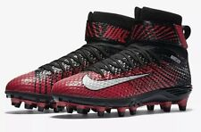 Nike Lunarbeast Elite TD Black Red Men's Football Cleats Size 10 (779422-016)