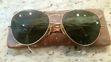 Vintage R.O. & Co. Aviator Sunglasses 1/10 12K Gf Rochester Optical Bausch&Lomb
