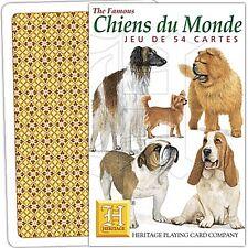CHIENS DU MONDE (Français langues) Ensemble de 52 cartes à jouer + Jokers ( HPC